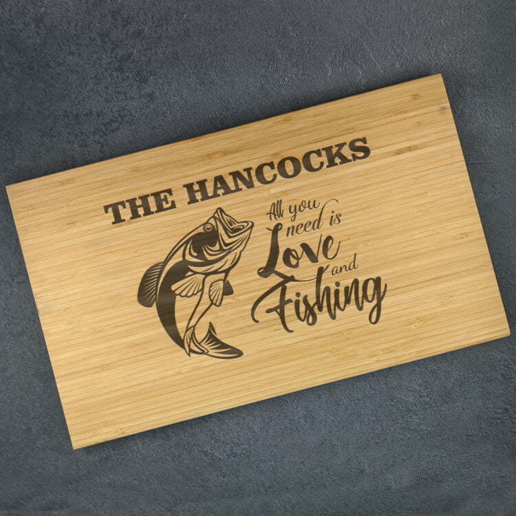 Personalised Chopping Board : Love and Fishing 1