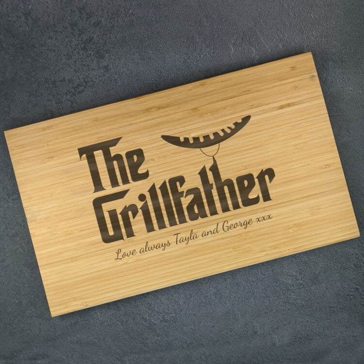 Personalised Chopping Board : The Grillfather 1