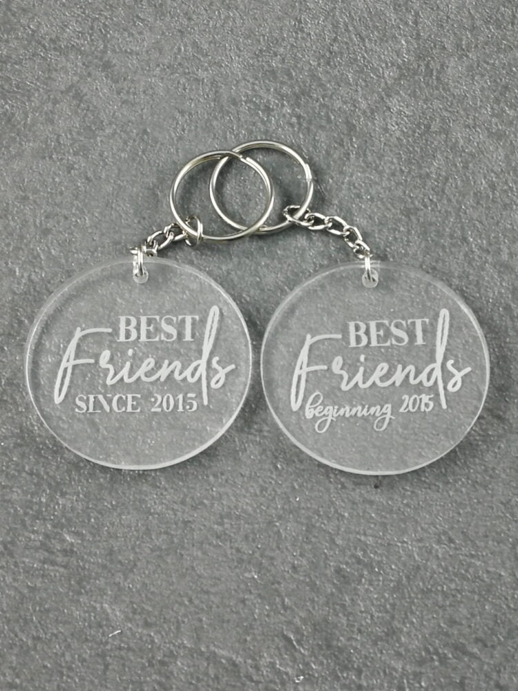 Best Friends Matching Acrylic Keyrings 1