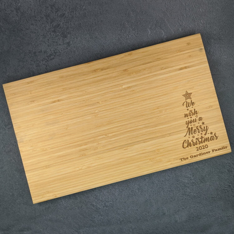 Personalised Chopping Board Christmas Family Tree 1