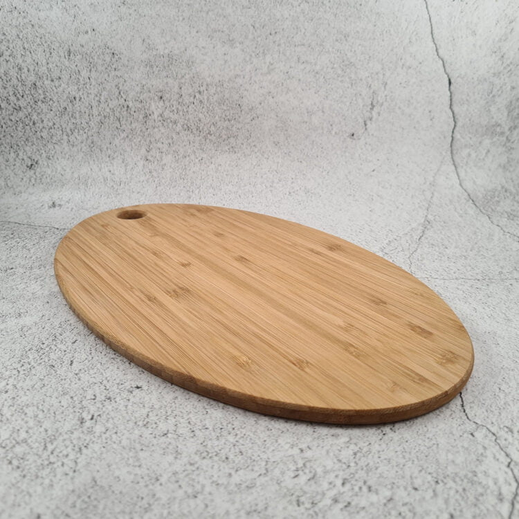 Engraved Bamboo Oval Serving Board : Design your own 3