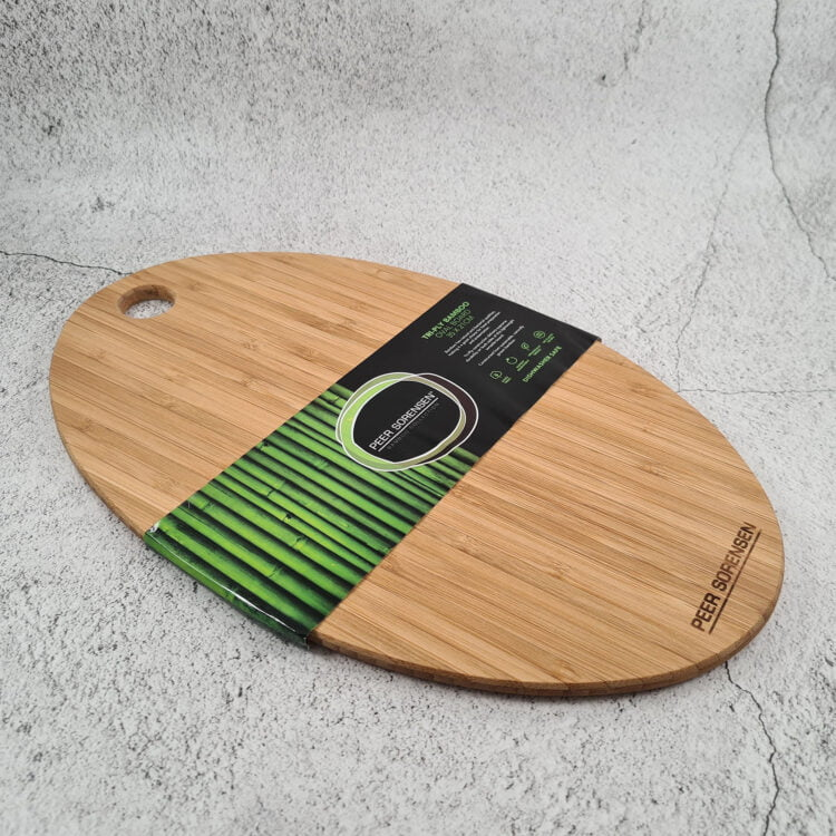 Engraved Bamboo Oval Serving Board : Design your own 1
