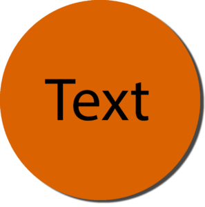 Orange with Black Text