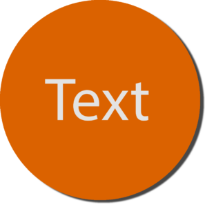 Orange with White Text