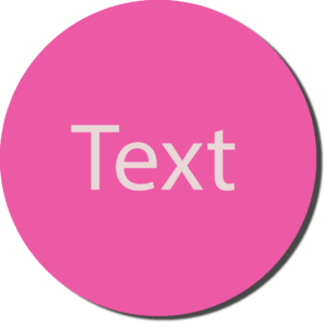 Pink with White Text
