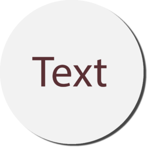 White with Burgundy Text