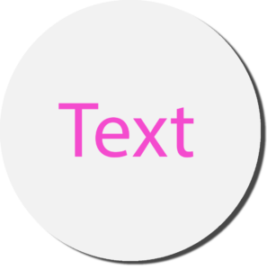 White with Pink Text