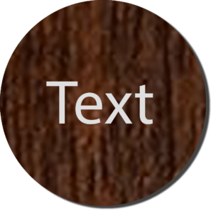 Wood with White Text