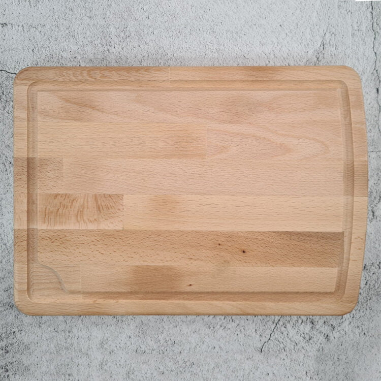 Personalised Chopping Board with milled groove 3