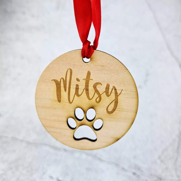 Paw Print Christmas Ornament 1