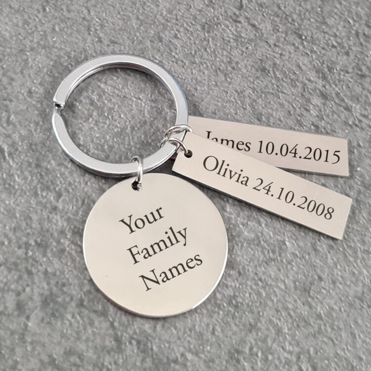 Personalised Family Keychain 1