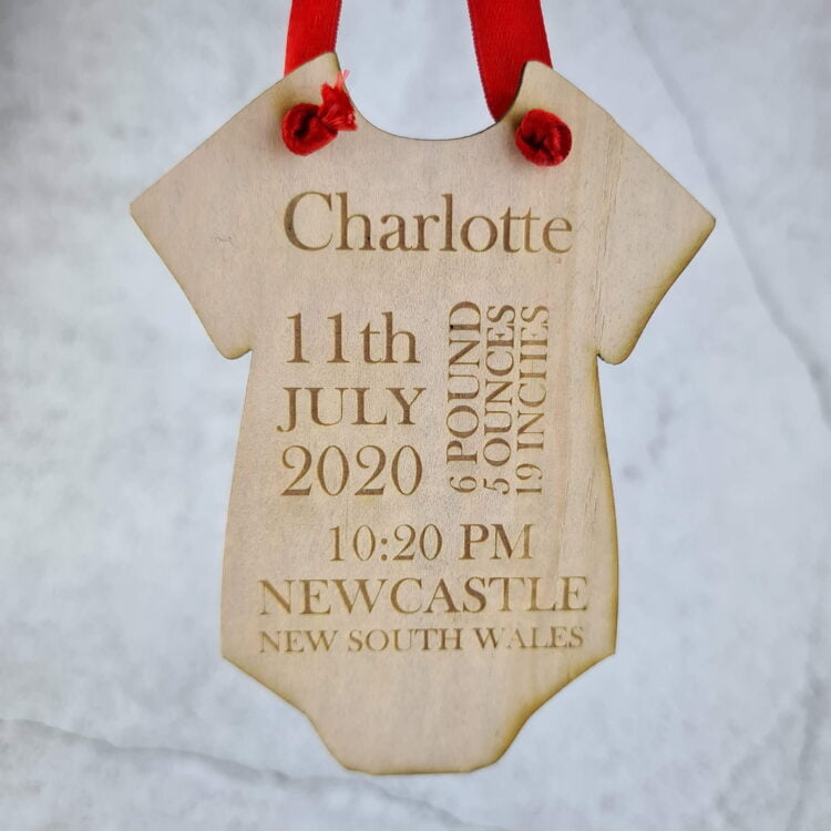 Personalised Baby's First Onesie Ornament 1