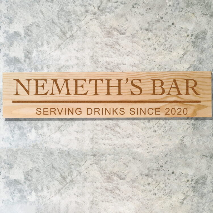 Personalised Bar Sign 1