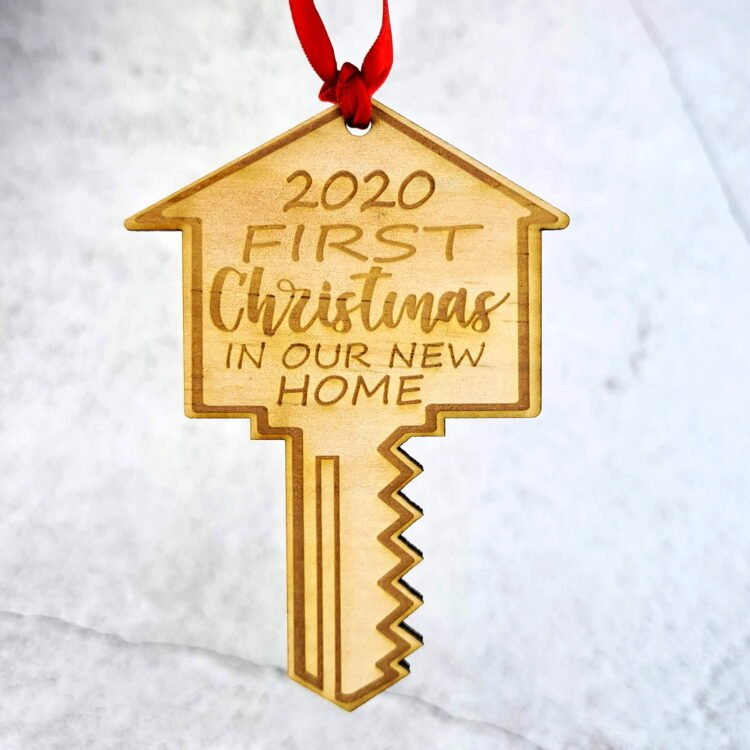 First Christmas House Key Ornament 1