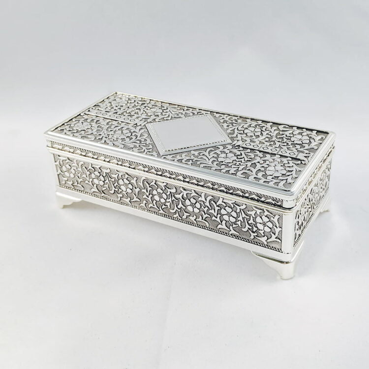 Jewellery Box Silver Rectangle Choose from 3 sizes 3