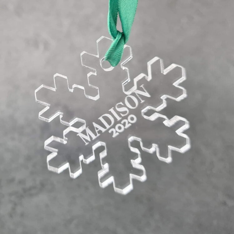 Personalised Snowflake Ornament 1
