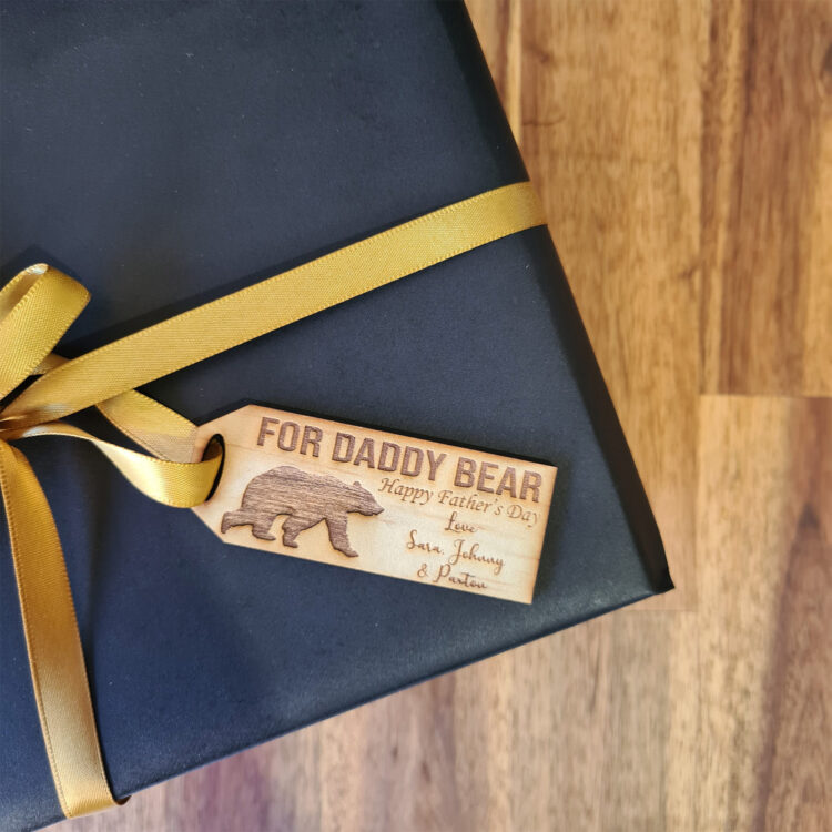 Daddy Bear Gift Tag 1
