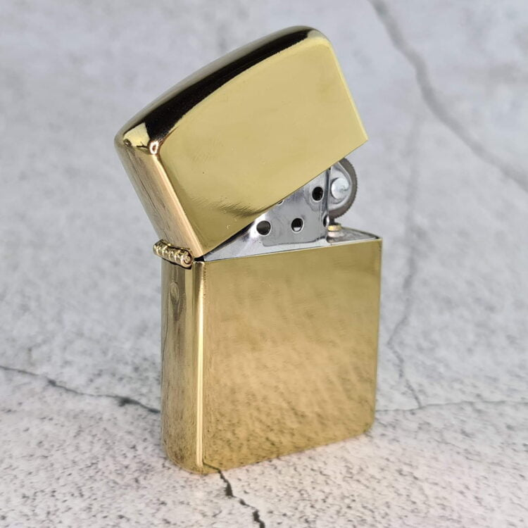 High Polish Gold Lighter with Your Design 1