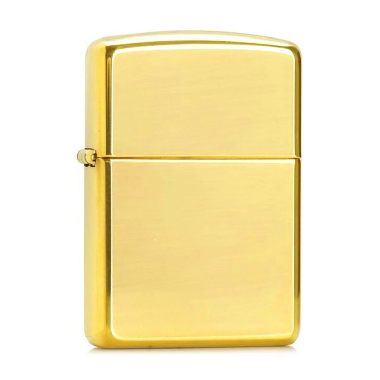 High Polish Gold Lighter with Your Design 2