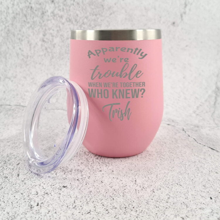Troublemaker Stainless Steel Travel Tumbler 3