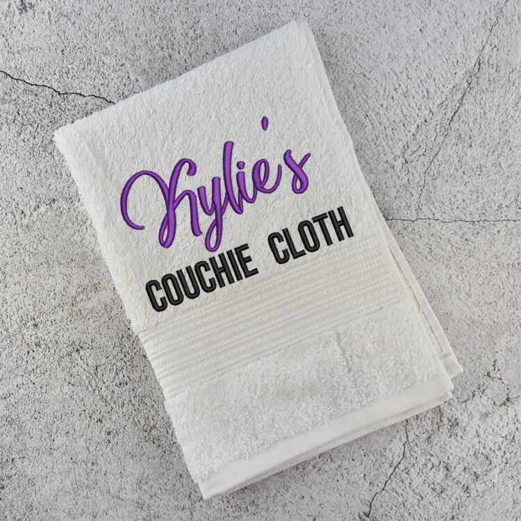 Personalised Couchie Cloth 1