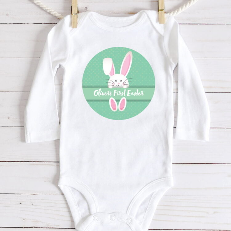 First Easter Baby Jumpsuit - Long Sleeve 1