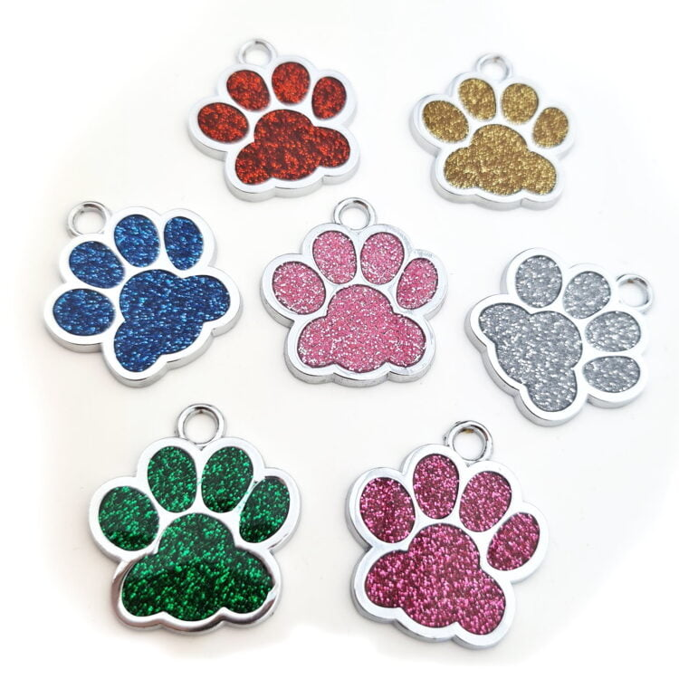 Glitter Paw Personalised Pet Tag 1