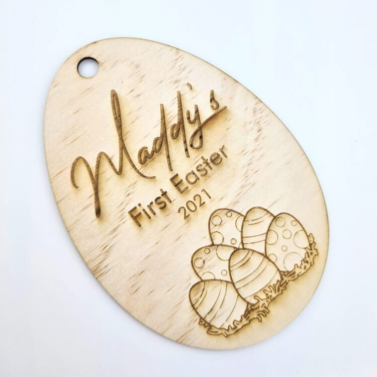 First Easter Personalised Egg Gift Tag 1