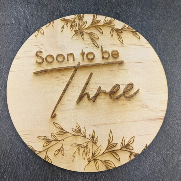 Soon to be Birth Announcement Disc