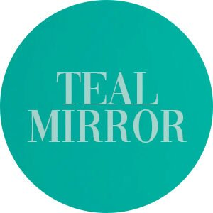 Teal Mirror Acrylic