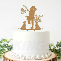Hooked for Life Cake Topper