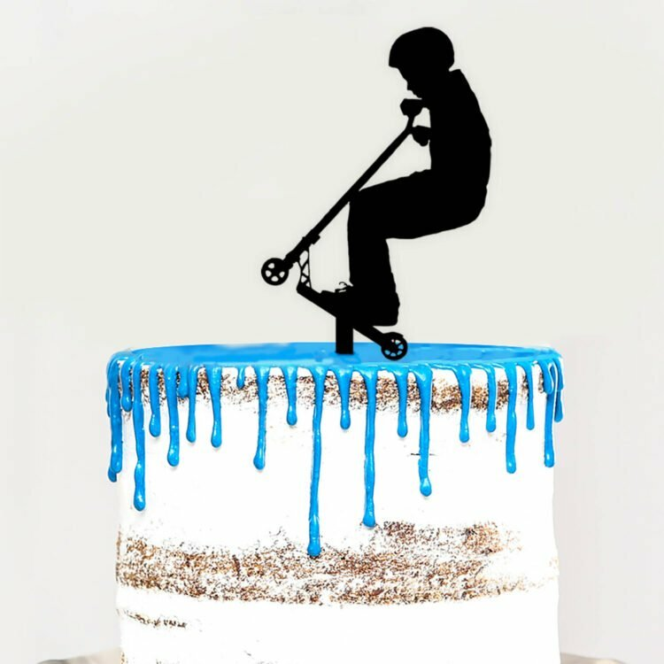 Cake topper Scooter