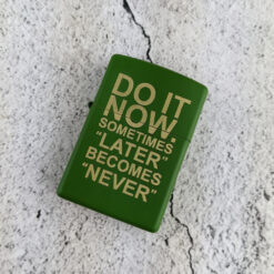 Do It Now Moss Green Zippo