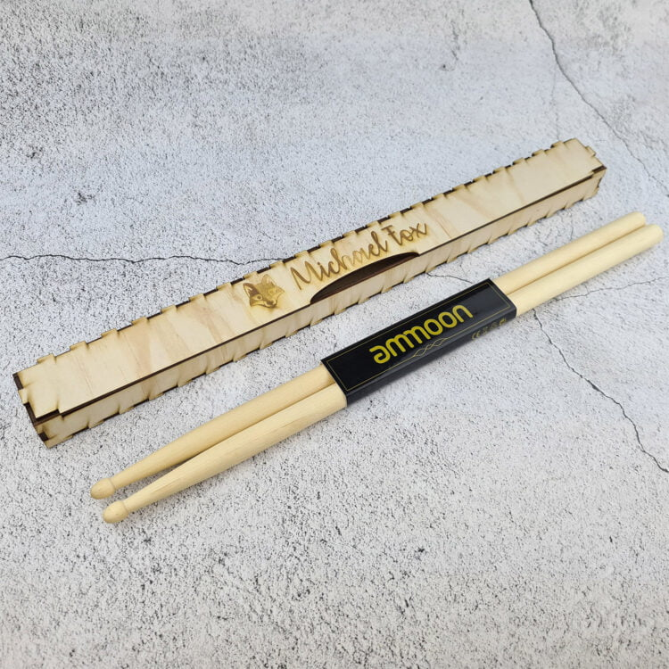 Personalised Timber Drumstick Gift Box 1