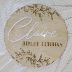 Round Name Wall Decor
