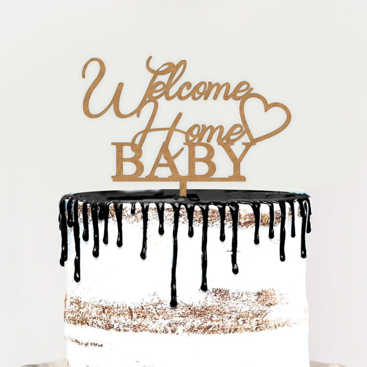 Welcome Home Cake Topper