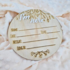 Birth Announcement Disc