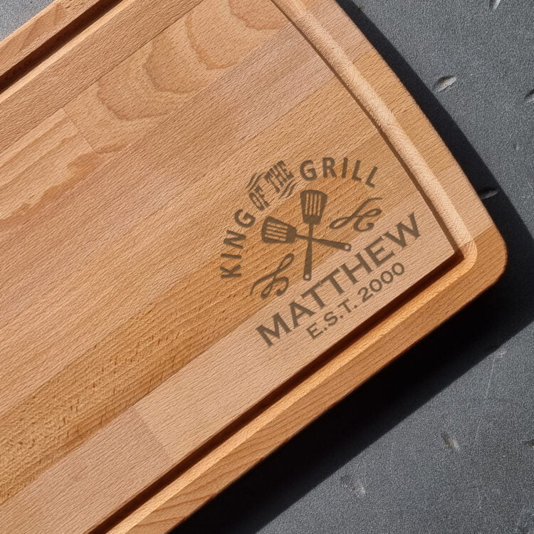 King of the Grill Personalised Chopping Board