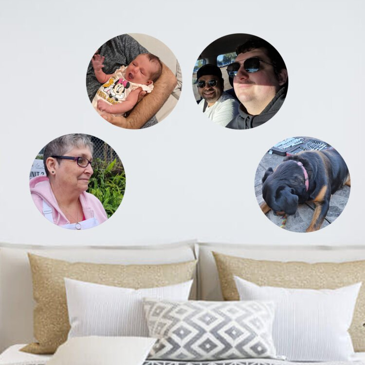 Round Photo Decal - Small - Re-Positionable 1