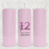 Kids Birthday Tall Tumbler pink