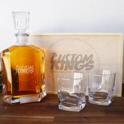 Personalised Corporate Decanter Boxed Set