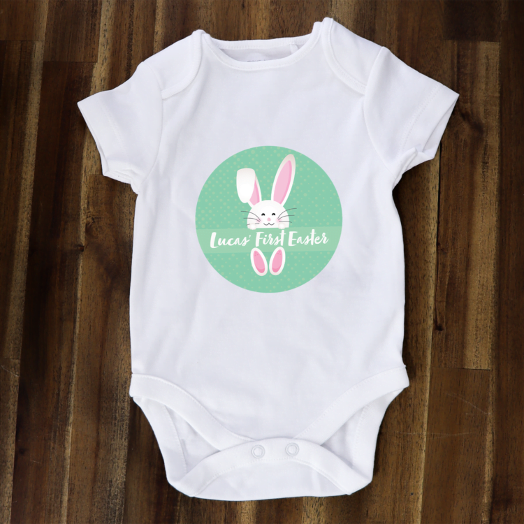 First easter baby onesie